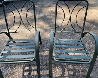 Two Aluminum Patio Chairs