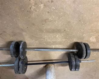 Two Barbells with Weilder weights