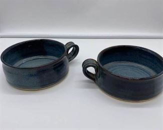 Two Small Pottery Bowls
