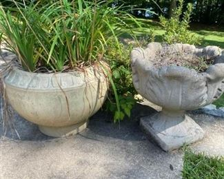 Two Patio Planters