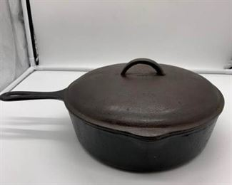 Vintage Cast Iron Deep Fryer with Lid