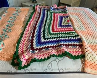 Vintage Crocheted Throws
