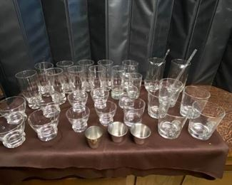 Collection of Bar Glasses Mixers