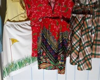 Four Vintage Womens Golf Outfits