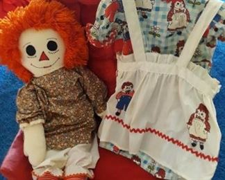 Raggedy Ann Costume with Doll
