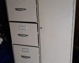 Three Drawer Filing Cabinet with Safe