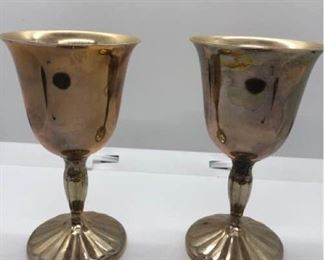 Two International Silver Co Goblets