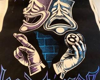 Two Vintage Black Light Posters