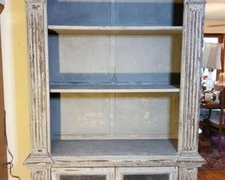 Grey Barnyard Rustic Display Shelf