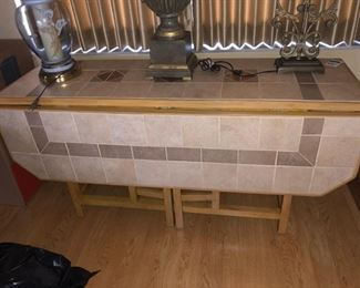 Drop Leaf Table w/ Tile top can seat 12