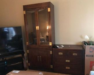 Mahogany cabinet other pieces