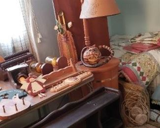 Sewing lamp and bedding