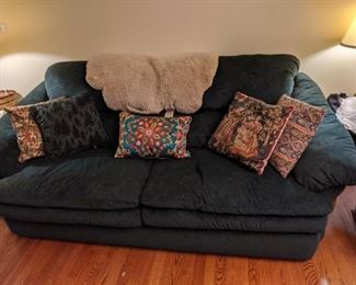 Hunter green couch