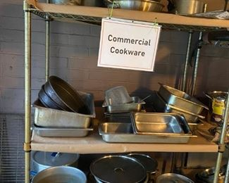 Lots of commercial cookware!