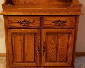 Repro oak dry sink