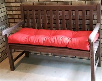 Wooden bench & cushion