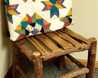 Rustic chair & quilt