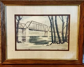 Original water color by Jack Bond of Roscoe, IL
