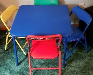 Child's folding table & chairs