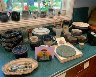 Pottery including Pewabic