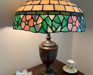 Salch Lamp base with Stained Glass