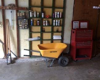 fiberglass wheelbarrow