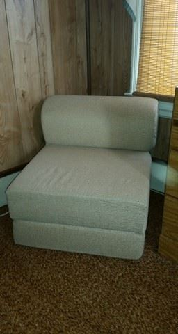 Modern bolster seat - transforms into bed