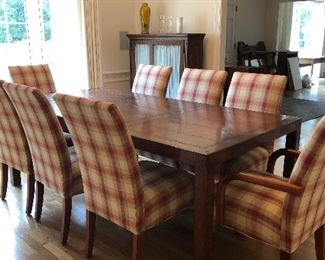 Henredon Parson table and 8 upholstered chairs from Edward Springs  Interiors