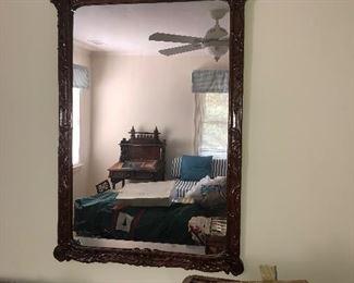Chinoiserie Mahogany mirror