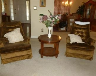 high back brown chairs