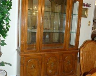 Thomasville Burled Wood China Cabinet
