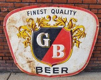 $600 Firm - Griesedieck Brothers Vintage Metal Shield Sign