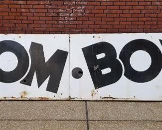 $2,200 Firm - Huge 2 Piece Porcelain Tom-Boy Store Sign (Set up for neon).
