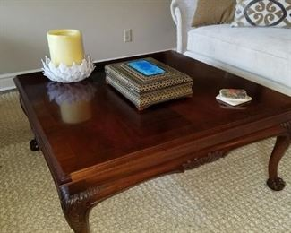 A closer look at the cherry coffee table