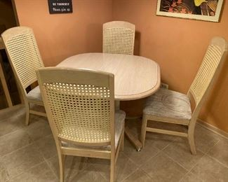 KITCHEN TABLE - BUY IT NOW $125 CHAIRS MATCH DINING SET - BUY IT NOW $45 EACH