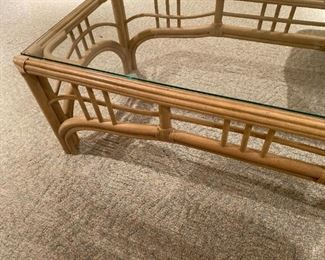 RATTAN COFFEE TABLE - BUY IT NOW $125
