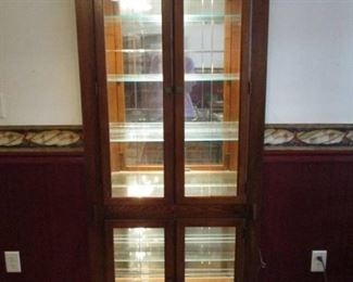 Lighted Curio Display Cabinet