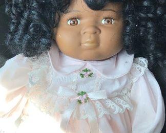Antique doll / ceramic head cloth body - good condition