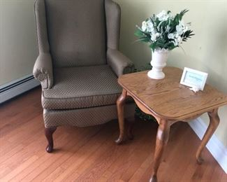 WING CHAIR AND TABLE