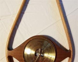Wood Art Teardrop Barometer by Tempest