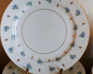 Remembrance pattern by Noritake. Blue Flowers, Gold Leaves