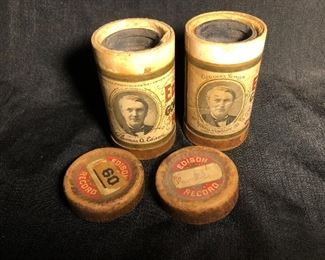 Antique Edison Wax Cylinder Records