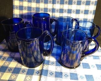 Vintage Kobalt Blue Glassware