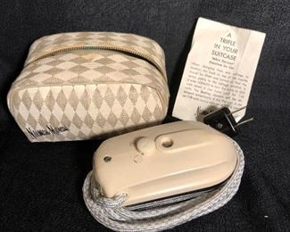 Vintage Nieman Marcus Travel Iron