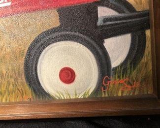 "Radio Flyer Art "" Baby and Bear"""