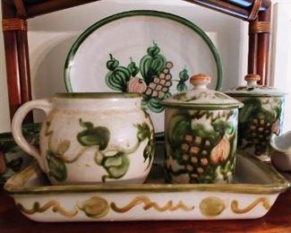John B Taylor Louisville Stoneware Harvest Pattern. Large Set!