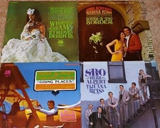 Vintage LP Record Collection