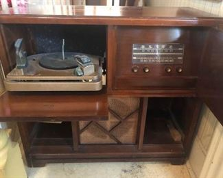 Vintage Record Console