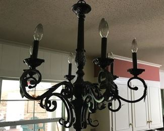 chandelier is attached but we are allowed to sell it