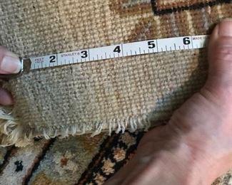 rug threads per inch